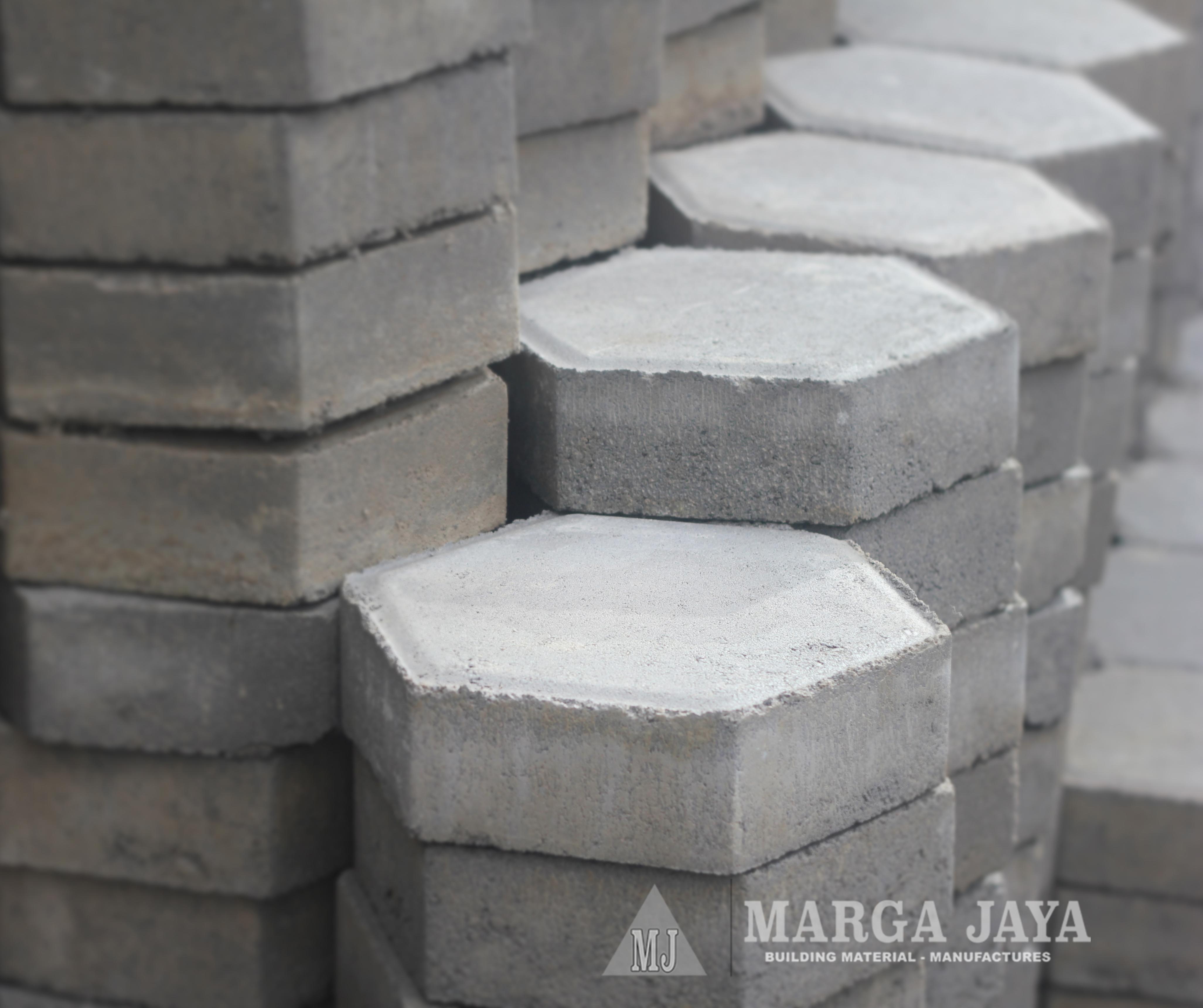 Paving Block \/ Conblock Segi Enam Hexagon (Konblok) Marga Jaya - Building Material Manufactures